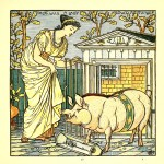 There was a lady loved all swine - Walter Crane