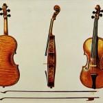 Die Hellier Stradivari Violine und zwei Bögen