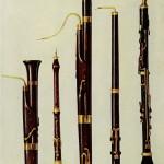Dolciano, Oboe, Fagott, Oboe da Caccia und Bassethorn