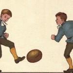 Kinder spielen Fussball in London