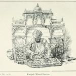 Holzschnitzer aus Punjab