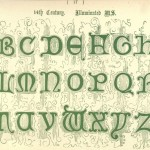 Alphabet aus dem 14. Jahrhundert, Illuminated Manuskript
