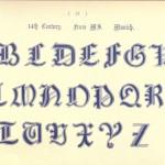 Alphabet aus dem 14. Jahrhundert, Manuskript München