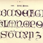 Alphabet 1480, Britisches Museum