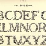 Alphabet 1490, Britisches Museum