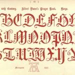Alphabet aus Dürers Gebetsbuch, 16. Jahrhundert