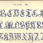 Alphabet aus dem 17. Jahrhunder, Manuskript