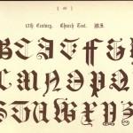 Alphabet aus dem 17. Jahrhundert, Messbuch
