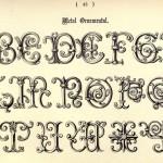 Alphabet im Schmiedeeisen-Stil