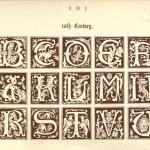 Alphabet aus dem 16. Jahrhundert mit Tieren und Figuren