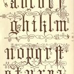 Alphabet aus dem 16. Jahrhundert