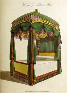 Entwurf für ein Himmelbett (um 1800)