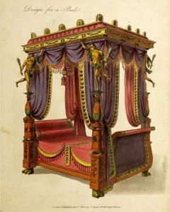 Design für ein Bett (um 1800)