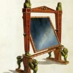 Ankleidespiegel (Cheval Dressing Glas, um 1800)