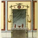 Kaminspiegel und Wanddekoration (um 1800)