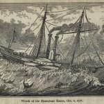 Schiffswrack des Dampschiffes Home, 9. Oktober 1837