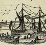 Dampfschiff im Hafen
