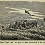 Major Heath, und 22 andere, auf dem Bug des Schiffes