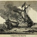 Feuersbrunst der Royal Tar