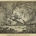 Großbrand und Explosion der Ben Sherod