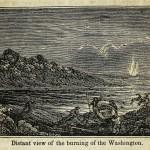 Die brennende Washington aus der Ferne