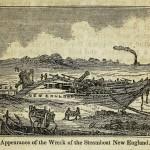 Das Schiffswrack des Dampfschiffes New England