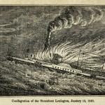 Die Feuersbrunst der Lexington, 13. Januar 1840