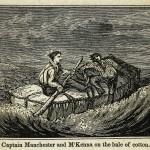 Kapitän Manchester und M'Kenna auf dem Ballen Baumwolle