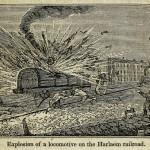 Explosion einer Lokomotive auf der Harlaem Bahnlinie