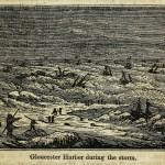 Gloucester Harbor während des Sturms