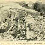 Szene auf dem unteren Deck der General Slocum