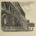 Florenz - Seite des Palazzo Pitti
