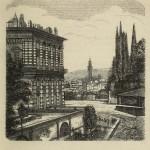 Florenz - Blick auf einen Teil des Palazzo Pitti, im Anschluss an die Boboli-Gärten