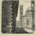 Florenz - Blick von der Seite auf den Dom und Campanile von Santa Maria del Fiore