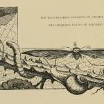 Illustration mit Raupe, Schnecke, Motte, Käfer, Spinne