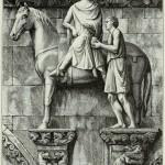 Sankt Martin teilt den Mantel -13. Jahrhundert - italienische Schule