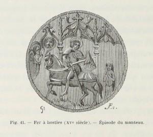 Sankt Martin - Backform für Hostien, 15. Jahrhundert