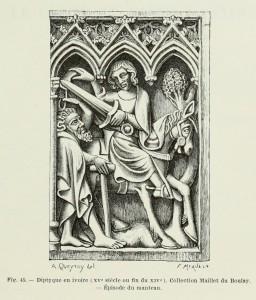 Sankt Martin, Diptychon aus Elfenbein, 15. Jh. oder Ende des 14. Jh.)