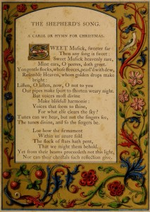 The Shephers's Song - A Booke of Christmas Carols