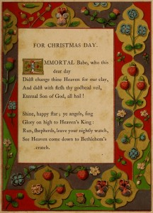 Immortal Babe, who this dear day - A Booke of Christmas Carols