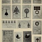 Weihnachtskarten - Einfache Vorlagen