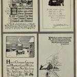 Vier verschiedene Designs von Weihnachtskarten