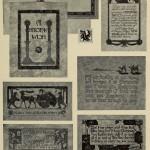 Weihnachtskarten - Interessante Designs mit Schriften