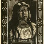 "Lilly - aus ""Her Navajo Lover"" (W. H. Robinson) - Porträt - Holzschnitt"