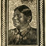 """Juan - aus """"Her Navajo Lover"""" (W. H. Robinson) - Porträt - Holzschnitt"""