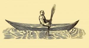 Mann im Kanu
