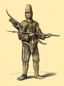 History of the Caribby Islands - Jäger mit Pfeilen und Lanze