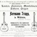 Hermann Trapp in Wildstein Lauten, Gitarren, Mandolinen, Zitherm, Geigen