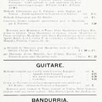 Noten für Mandoline, Gitarre und Bandurria