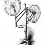 Fahrradständer zur Präsentation